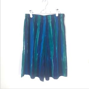 Vintage Blue and Green High Rise Shorts